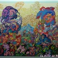 Peinture de l'artiste islandais Erro à Reykjavik.