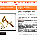 Calendrier fiscal mois de janvier 2018/tax schedule january 2018