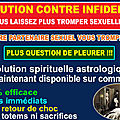 La solution contre infidelite