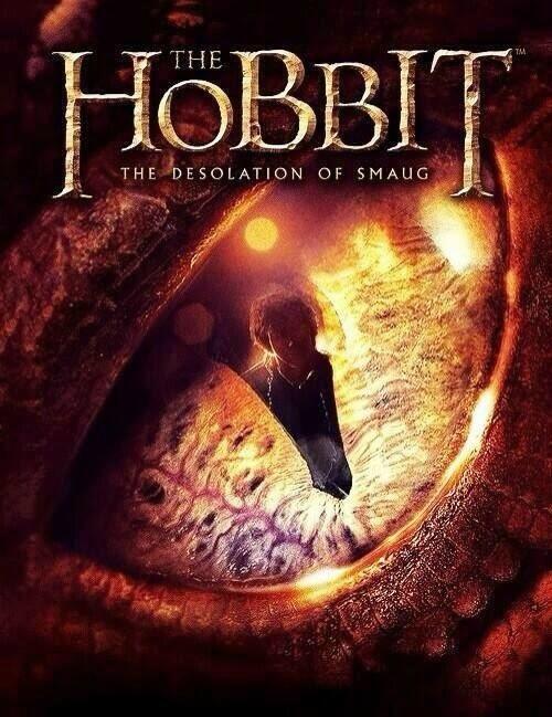 The Hobbit The Desolation of Smaug poster Smaug's eye
