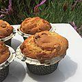 Dessert : muffins aux pépites de chocolat blanc et beurre de cacahuète
