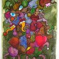 ATEK 2009 Fruits Confits dans la Prairie 40x50cm
