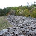 2009 10 07 Une 'coulée' de pierre entre Montgiraud et le Bouchat (5)