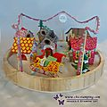 Christmas village with sweet home framelits