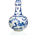 A blue and white vase, china, ming dynasty, chongzhen period (1628-1644)
