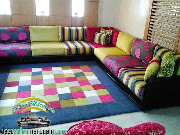 Salon marocain contemporain Multi coloris - Salon marocain moderne