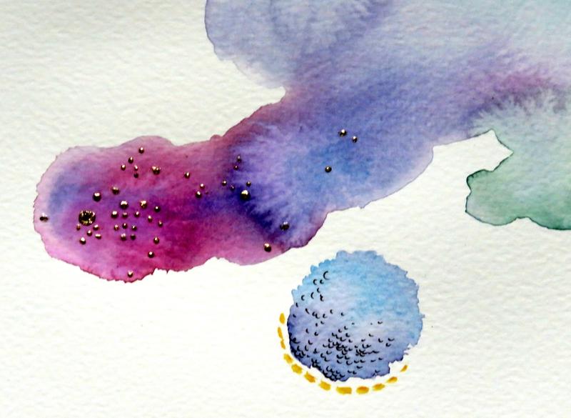 détail peinture abstraite aquarelle valerie albertosi médecine