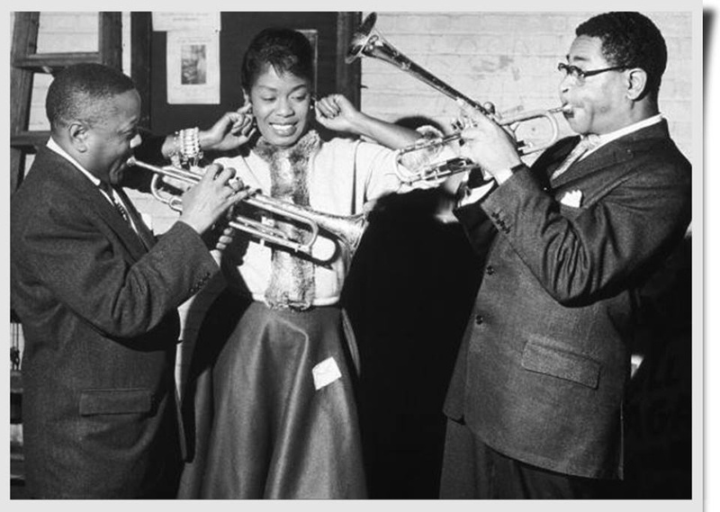 Sarah Vaughan, Roy Eldridge and Dizzy Gillespie