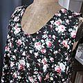 Robe HENRIETTE en popeline de coton noir fleur (4)