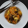 Ragout de poulet aux légumes d'automne et à la noix de coco