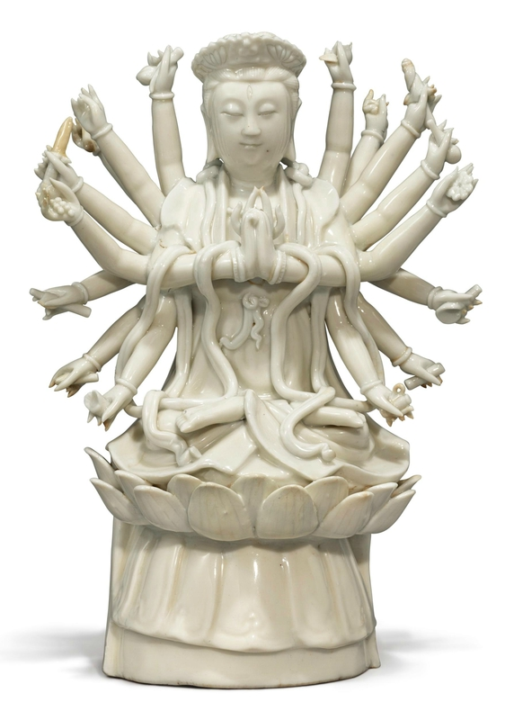 A 'Dehua' figure of Guanyin, Qing dynasty, late 17th-early 18th century