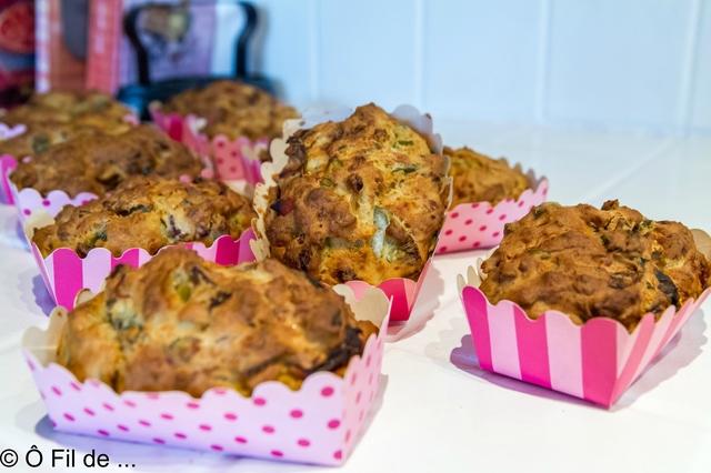 Mini cakes au thon, poireaux et poivrons (3)