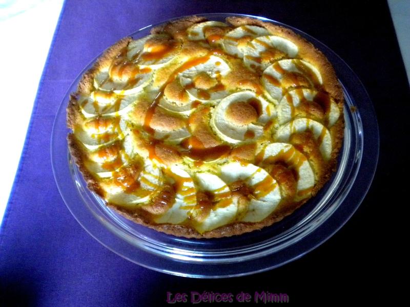 Tarte aux pommes à l'Amaretto et caramel au beurre salé 2