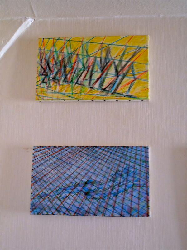 2 dessins :toile (la chutes des aveugles (dessin d'après Pierre Brughel) + dessin d'après Velasquez (Vénus)