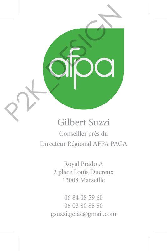 Edition Carte De Visite AFPA 1 2 3