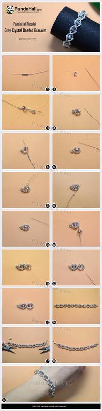 3-PandaHall-Tutorial-Grey-Crystal-Beaded-Bracelet