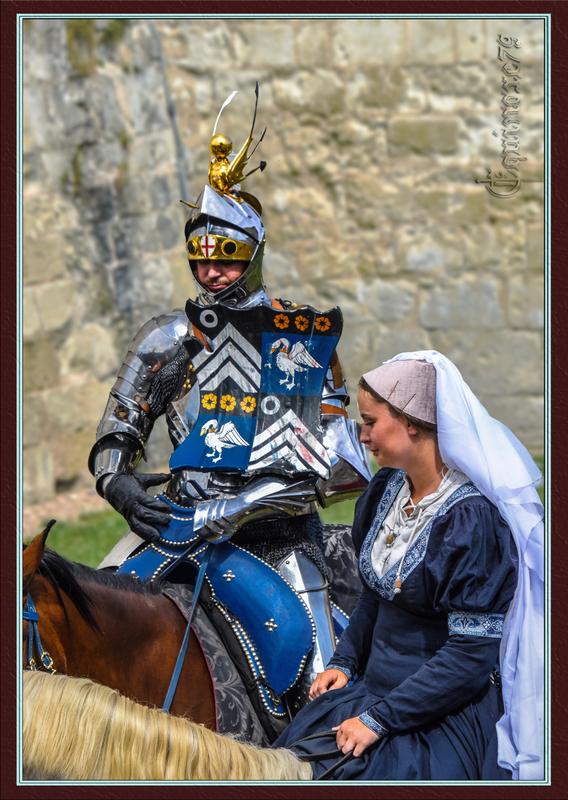 Chevalier Anglais au Château du Rivau - LE POITOU PENDANT LA GUERRE DE CENT ANS (1340-1453).