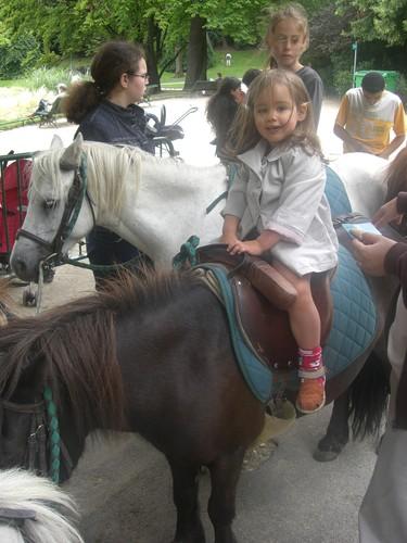 Première balade en poney