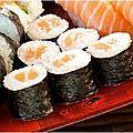 Maki et sushi japonais