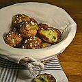 Chouquettes à la pâte de pistaches