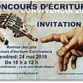 Invitation à la remise des prix du concours d'écriture convivéncia