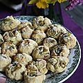 Cookies aux pignons et olives vertes à la fleur de sel