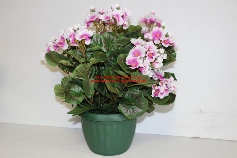 pot de géranuims lilas artificiels (9)