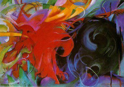 Franz Marc, Combat de formes, 1914