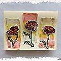 Carte aquarellée : les fleurs froissées