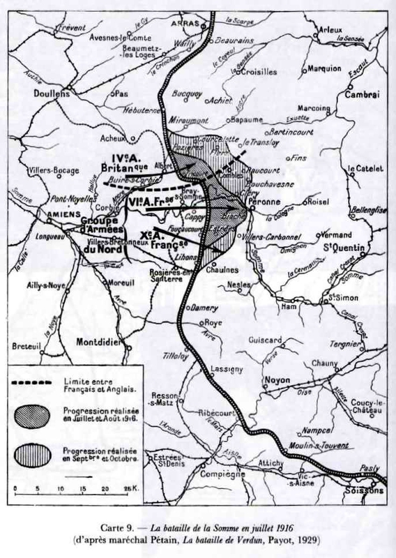 Carte Somme 1916