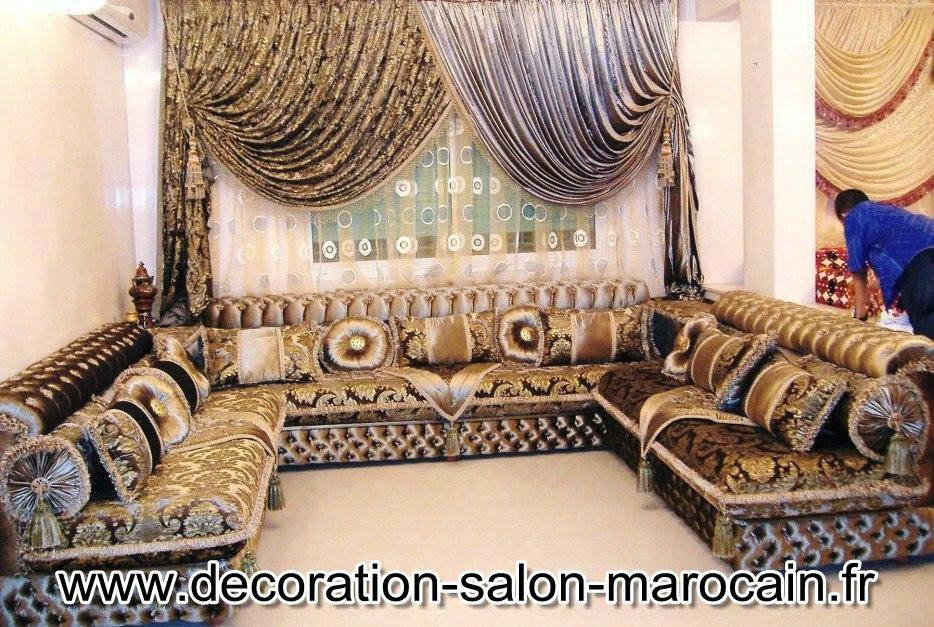 Des rideaux de haute couture pour salon marocain - Salon Maroc Déco