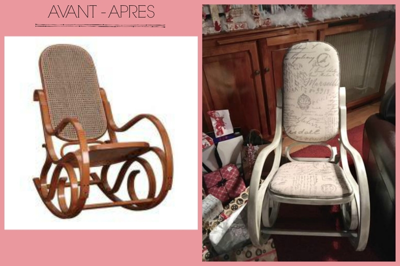 avant après rocking chair