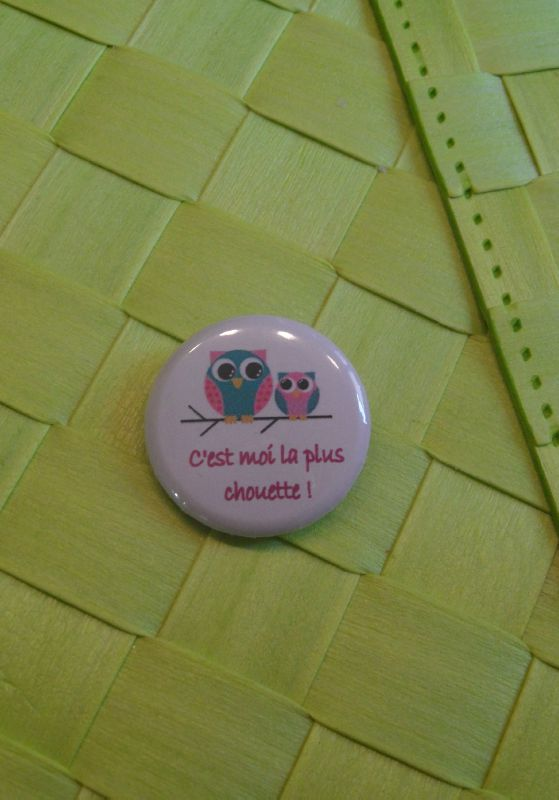 badge bébé chouette