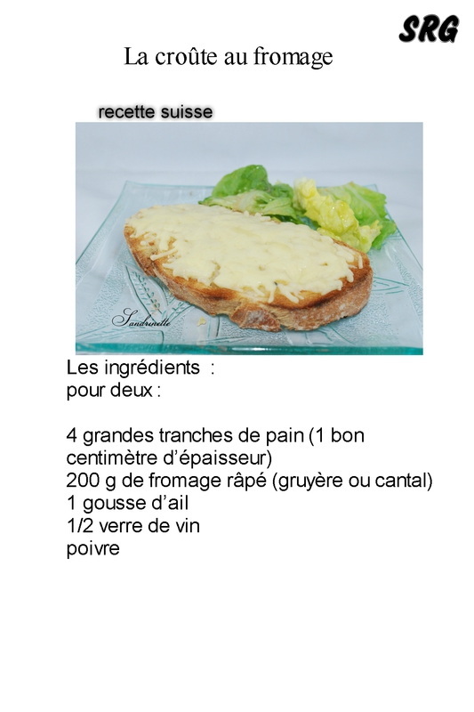 croûte au fromage (page 1)