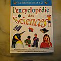 L'encyclopédie des sciences, le monde de a à z, france-loisirs/nathan 2000