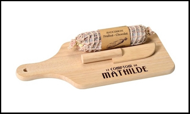le comptoir de mathilde saucisson chocolat praline noisettes 2