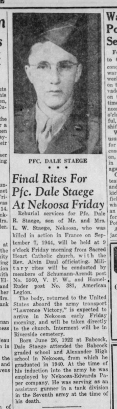 Dale Staege The_Daily_Tribune_Wed__Oct_6__1948_ (2)
