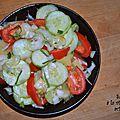 Salade à la vinaigrette acidulée