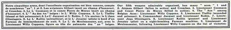 aviateurs belges
