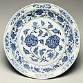 Dish, Ming dynasty, 1403-1424. Jingdezhen ware. Porcelain with underglaze cobalt blue decor; 2 15/16 x 15 3/4 in. (7.46 x 40.01 cm). Gift of Ruth and Bruce Dayton. 2003.140.1. Minneapolis Institute of Arts © 2014 Minneapolis Institute of Arts.