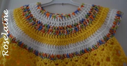 Roselaine robe bébé crochet 2