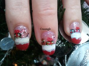 Nail art cadeaux de noël Crocongle1