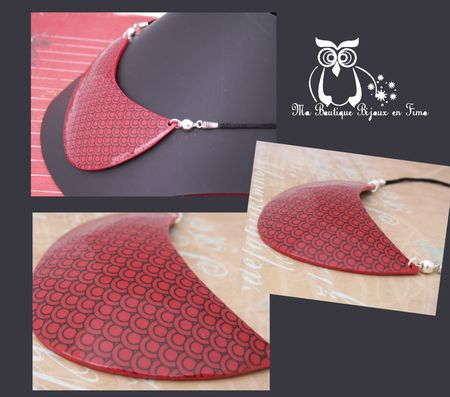 Collier col rouge 4CCB Photo 2