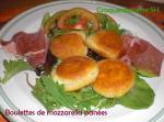 Boulettes de mozzarella panées