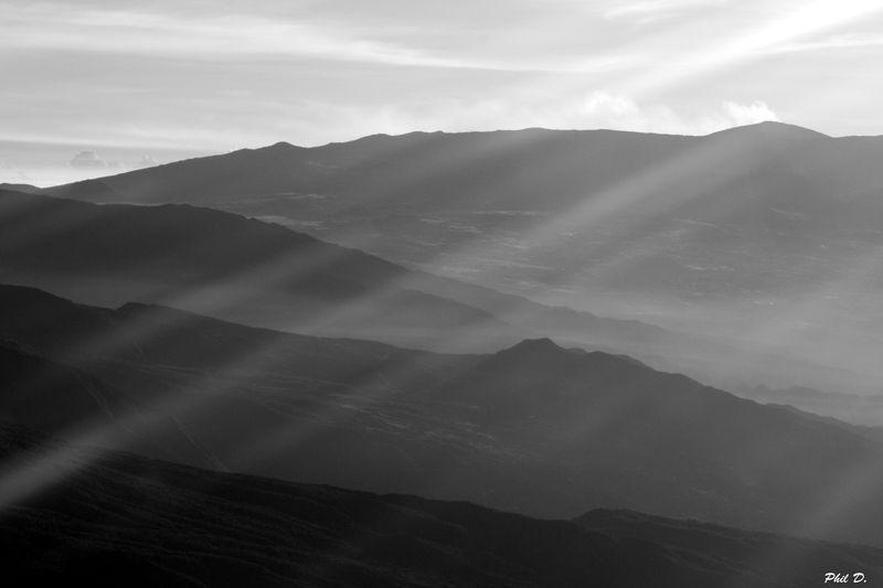 île en noir et blanc