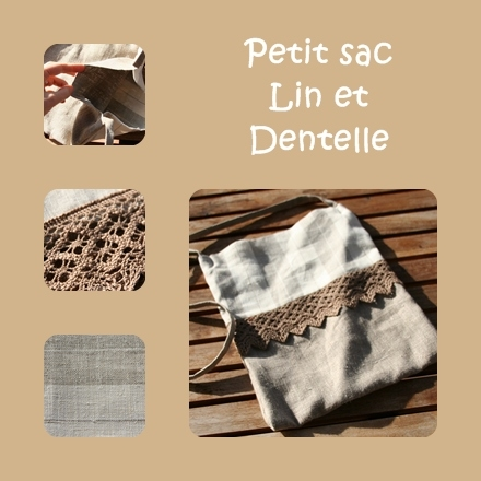Petit sac Lin dentelles
