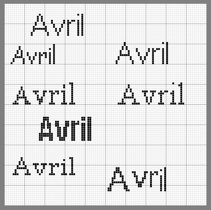 sunbonnet avril écriture