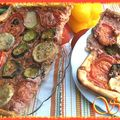 Tarte-pizza ricotta aux légumes