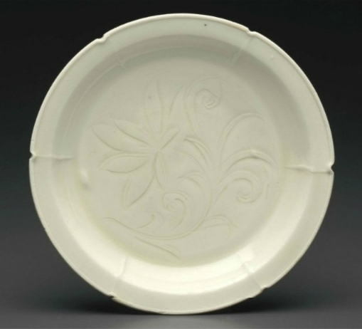 A Dingyao carved hexalobed dish, Northern Song dynasty, 12th-13th century