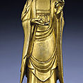 An important and very rare gilt-bronze figure of avalokitesvara, song dynasty (960-1279)
